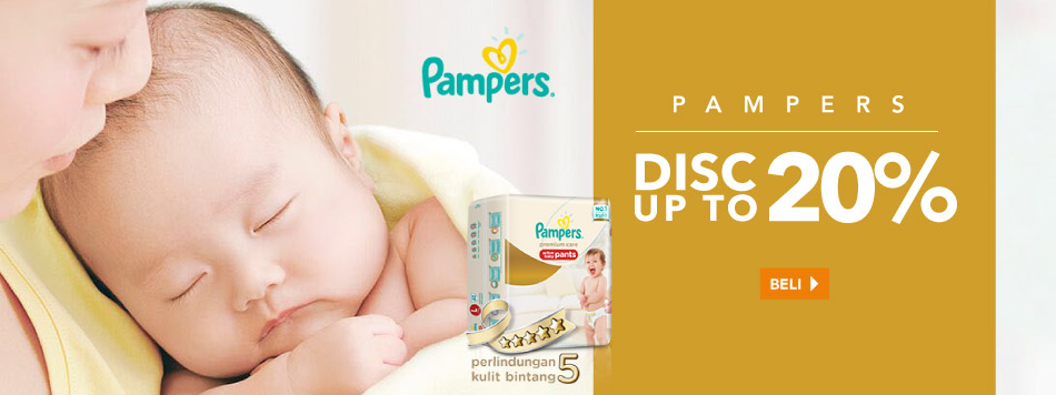 Pampers diskon up to 20%
