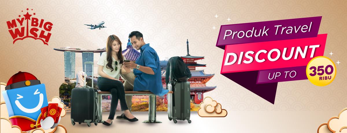 Produk Travel Diskon hingga 350 Ribu