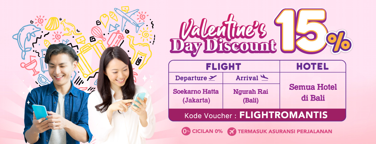 Promo Flight Ke Bali Disc 15%