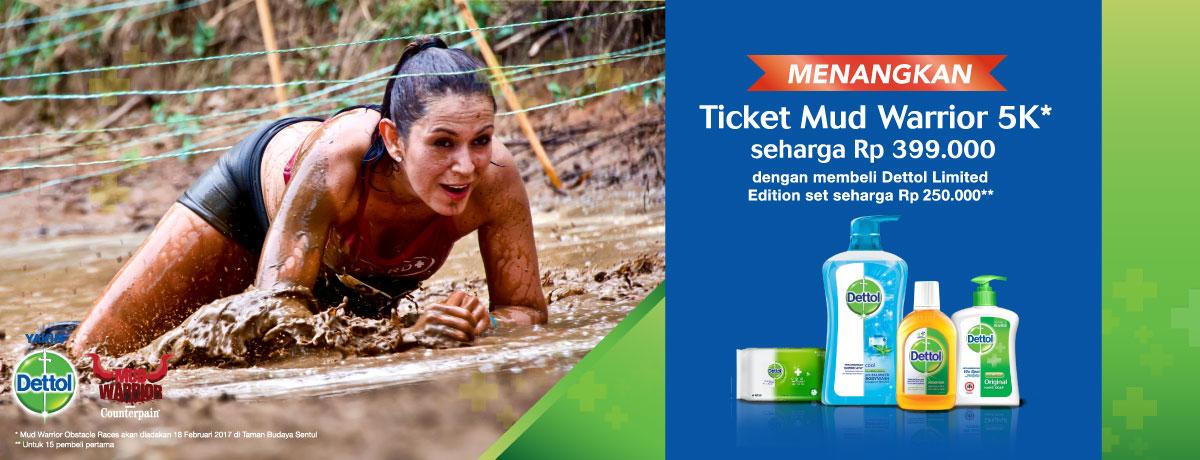 Free Mud Warrior Ticket