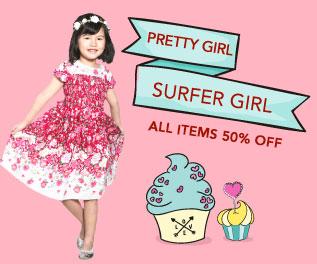 Surfer Girl Pretty Girl