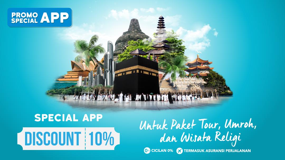 Diskon 10% Spesial App Blibli.com Travel