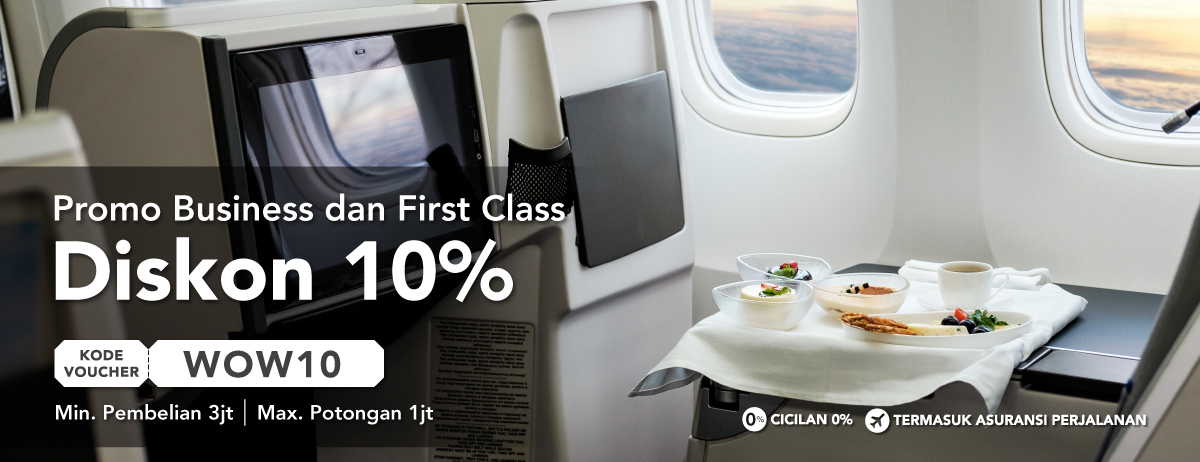 Promo Business dan First Class Disc 10%
