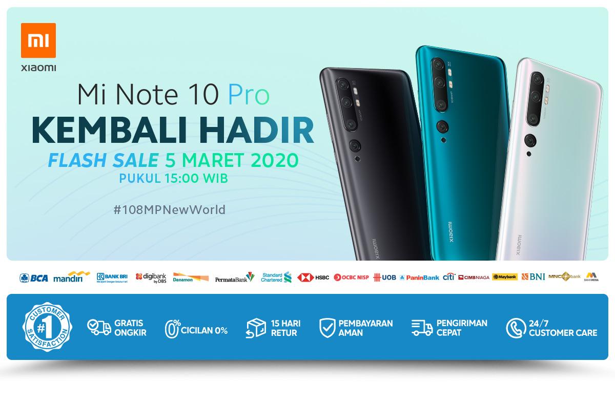 Xiaomi Flash Sale Mi Note 10 Pro Special Price Blibli Com