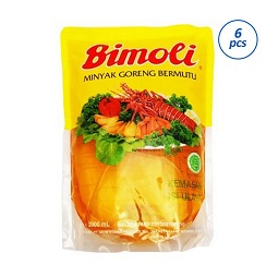 Bimoli Klasik Minyak Goreng 2000 mL/6 pcs