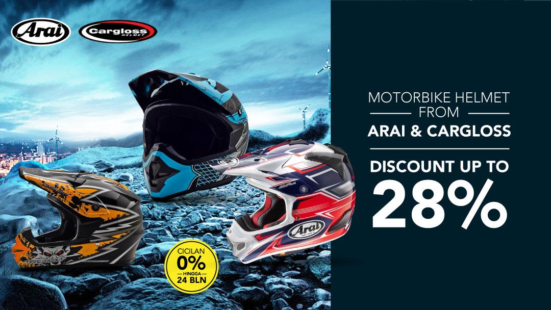 Arai Motocross Helmet Diskon Hingga 28%