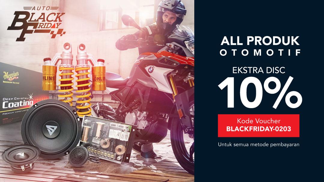 Extra Diskon 10% Produk Otomotif