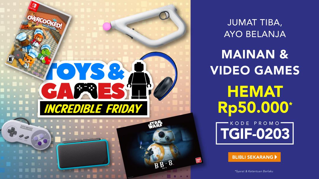 Hemat Rp.50.000 Mainan & Video Games