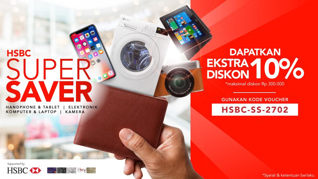 Dapatkan Diskon Extra 10% Dengan Kartu Kredit HSBC