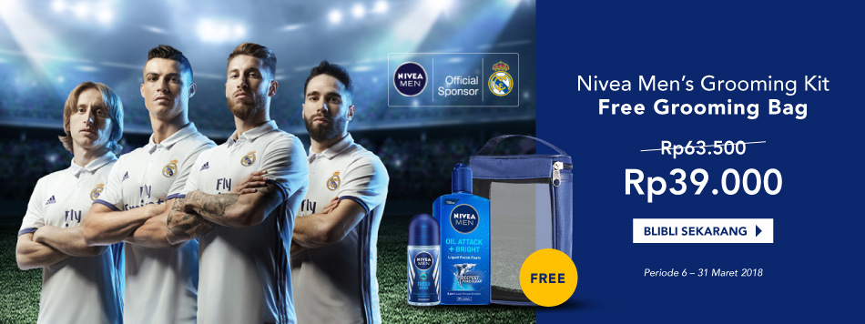 Nivea Grooming Kit only Rp39.000