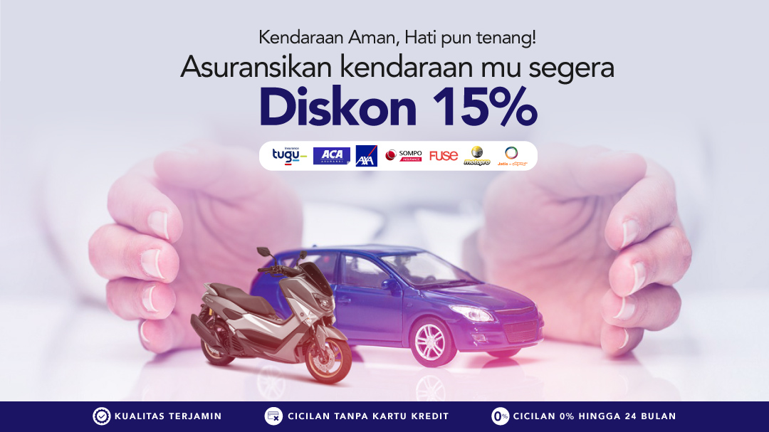Asuransi Mobil & Motor Diskon Hingga 15%