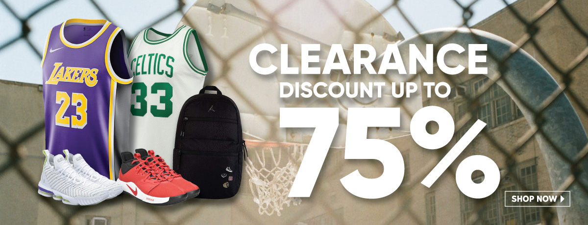 NBA Clearance Discount Up to 75%