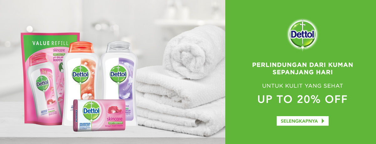 Dettol Up to 20% off