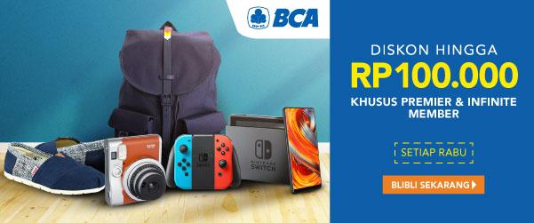 BCA DISKON Hingga Rp100.000
