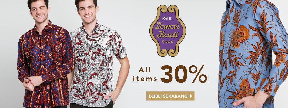 Danar Hadi all items 30%