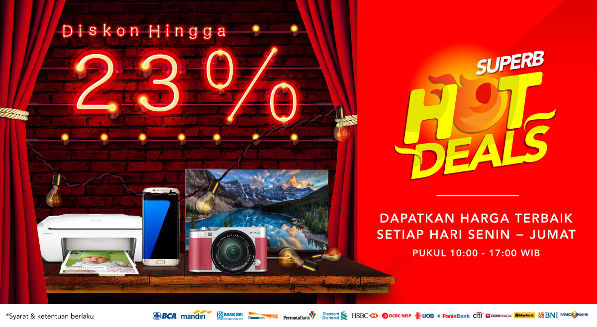 Super Hot Deals Gadget dan Elektronik Cashback hingga 90%