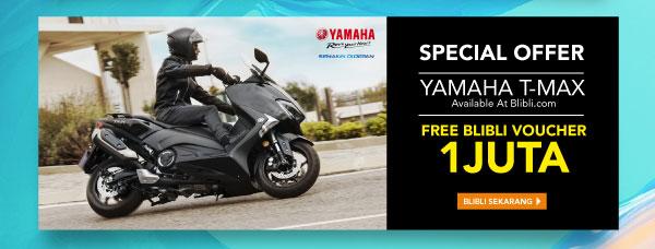 Beli YAMAHA T-MAX Free blibli voucher 1juta