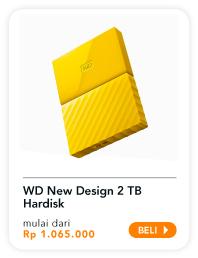 WD New Design 2 TB Hardisk