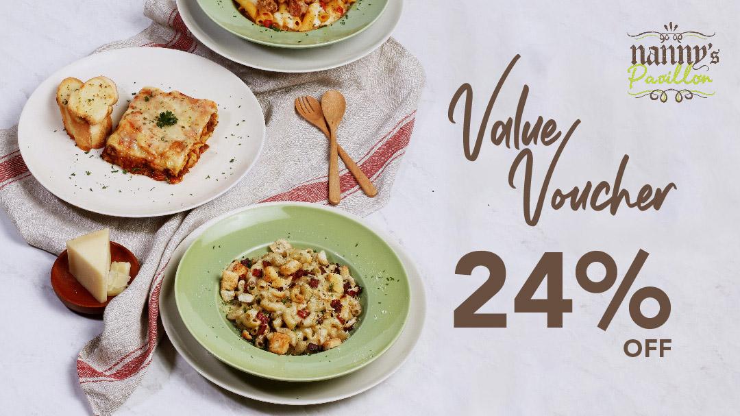 Nanny's Pavillon Value Voucher 24% OFF