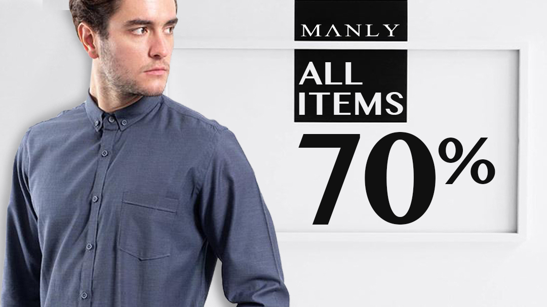 Manly All Items 70%