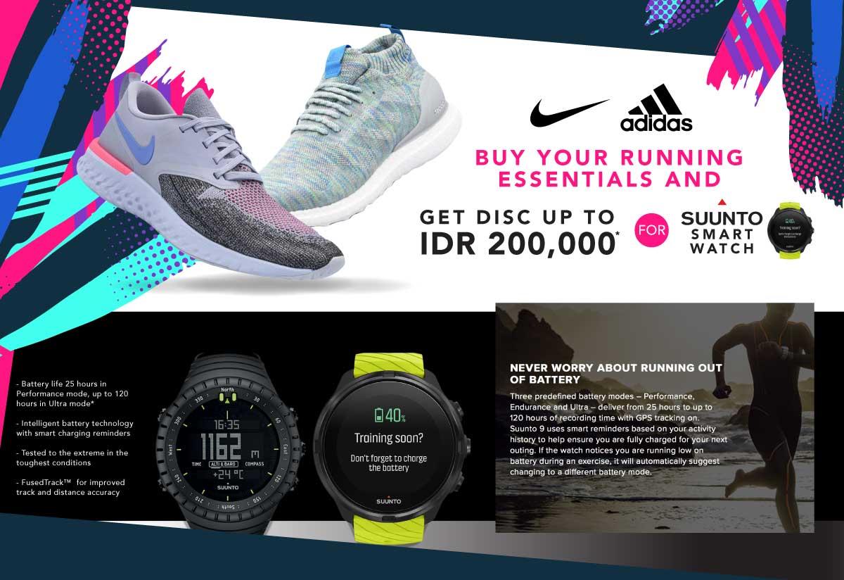 pas cher pour réduction 6b54d 19d72 Promo Sepatu Lari Nike & Adidas Disc up to 50% - Original ...