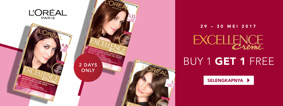 L'oreal Excellence Creme Buy 1 Get 1 Free
