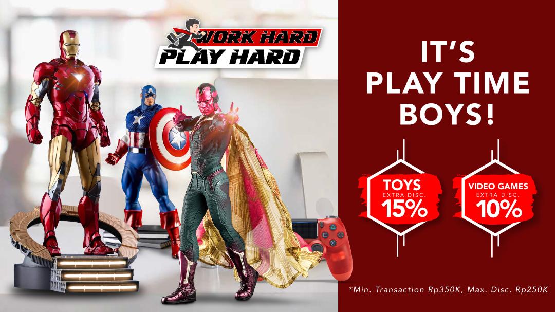 Mainan & Video Games Disc. Hingga 15%