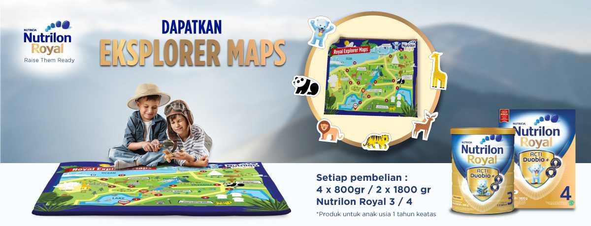 Nutrilon Free Learning Mat Eksplorer Maps