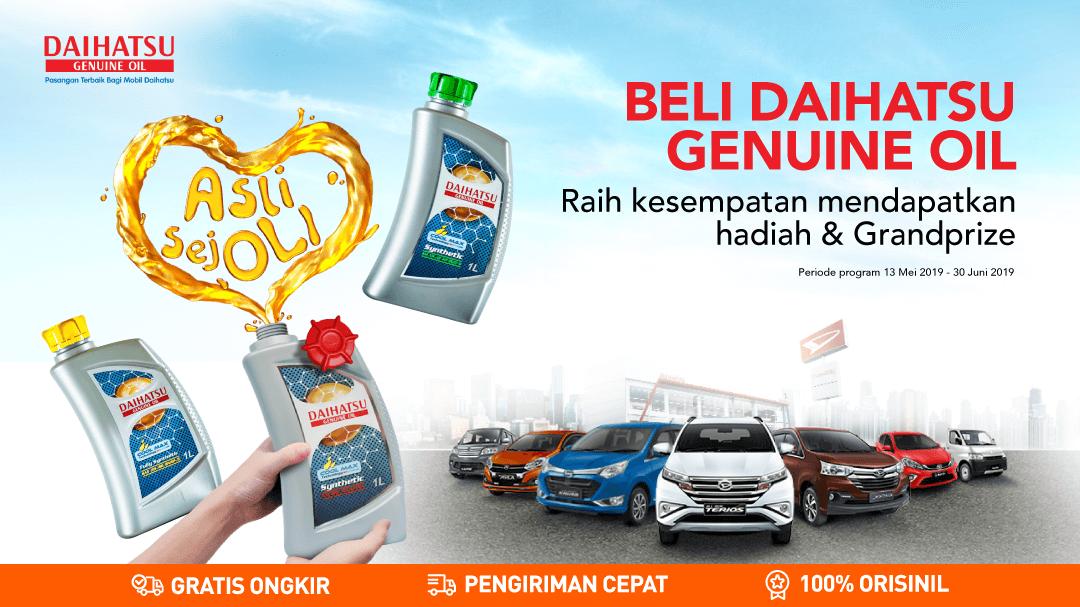 Beli Daihatsu Genuine Oil raih kesempatan mendapatkan hadiah