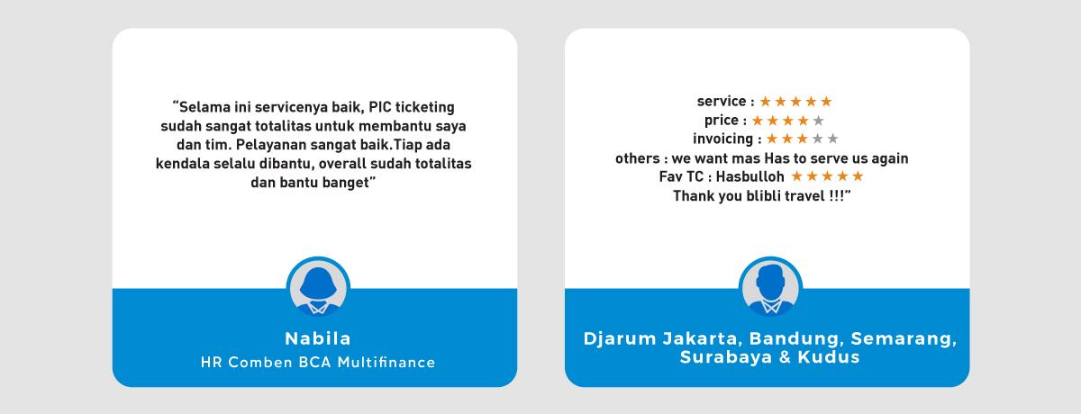 Testimoni Blibli Travel Corporate Services 2020 Blibli