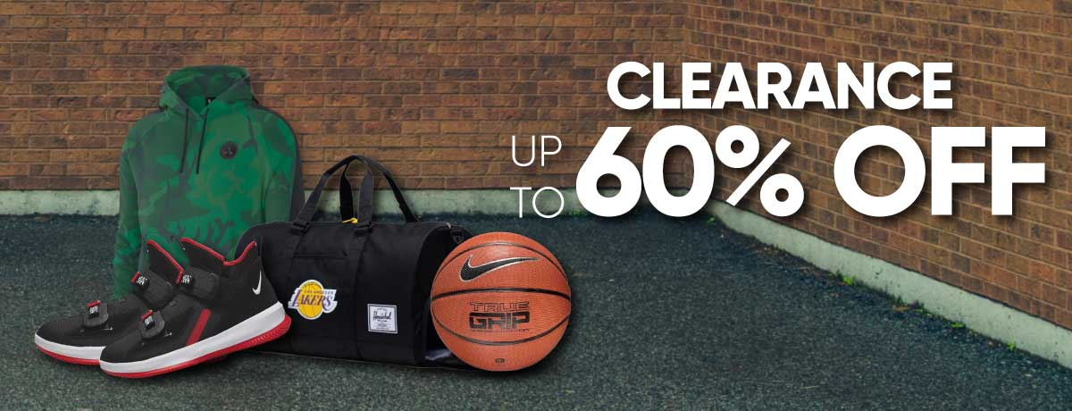 NBA Clearance Up to 60%