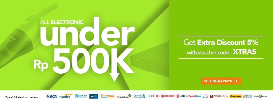 Electronic Under 500k