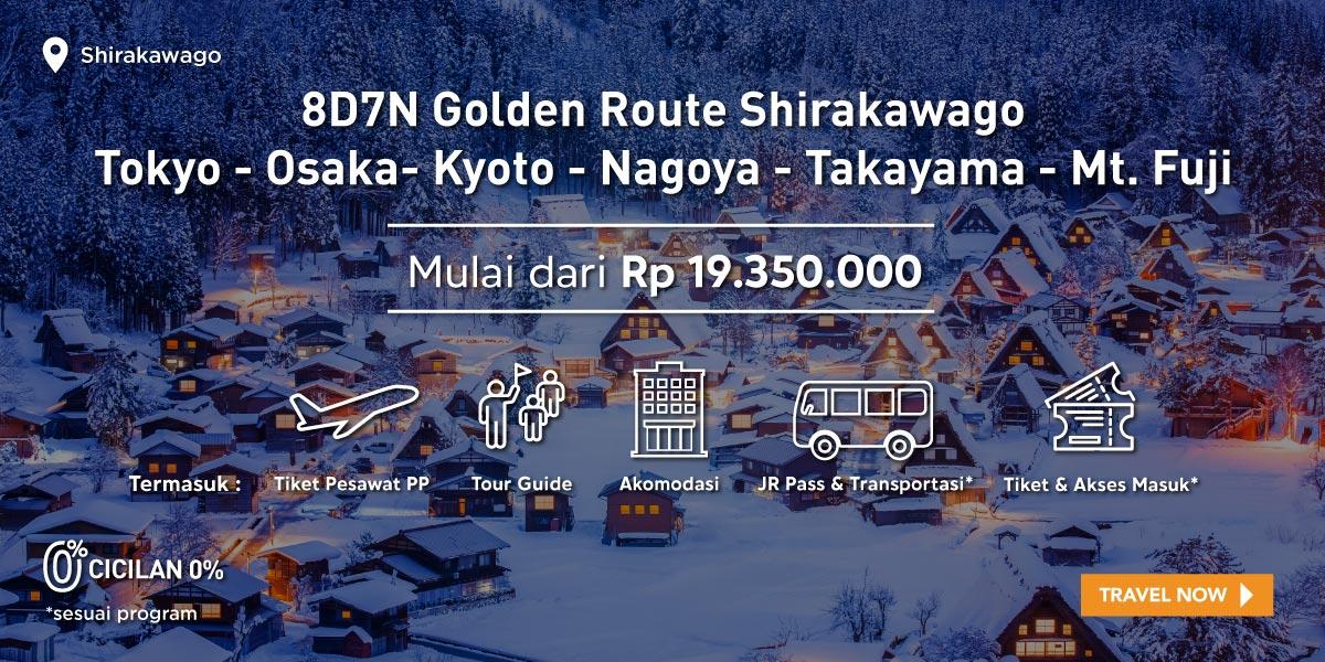8D7N Golden Route Shirakawago