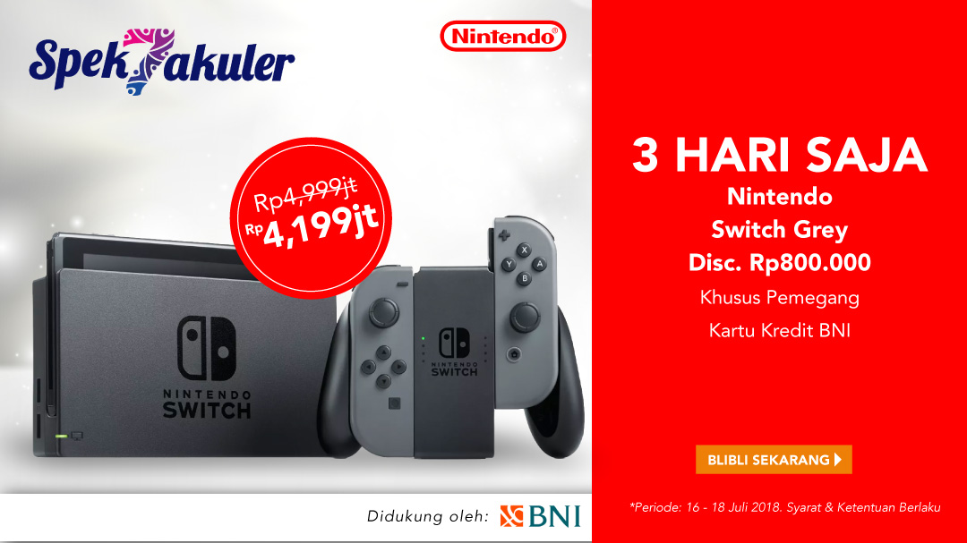 Nintendo Switch Disc. Rp800rb