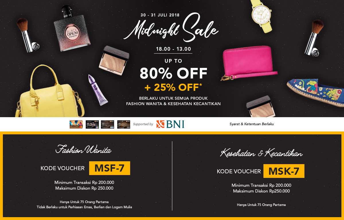 BNI Midnight Sale