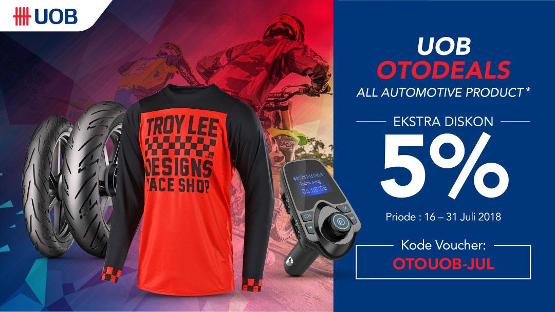 Diskon 5% untuk produk otomotif bagi pengguna KK UOB