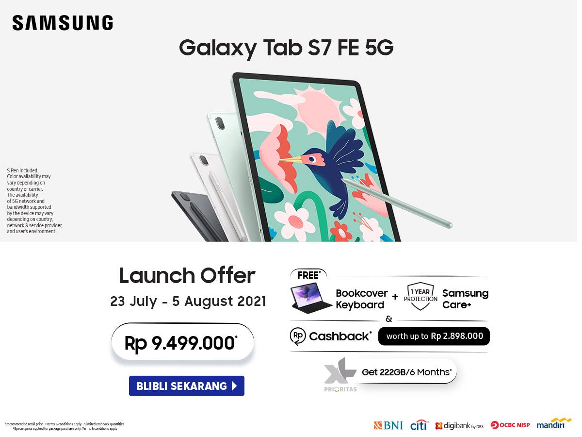 Promo Launching Samsung Galaxy Tab S7 FE