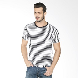 D&F 03526327 Striped T-Sshirt - Black White
