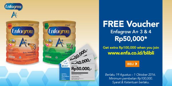 Free Voucher Enfagrow A+ 3&4