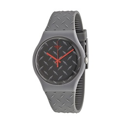 Swatch SUOM102 TEXT-URE Jam Tangan Pria - Grey