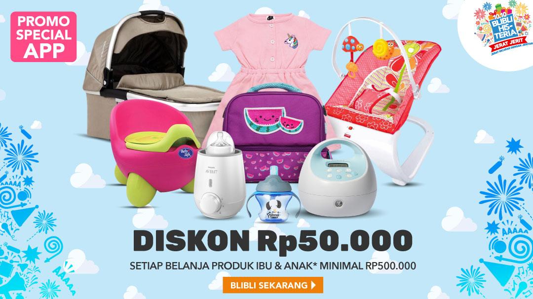 Extra Diskon Rp50,000 Khusus Apps | Blibli.com