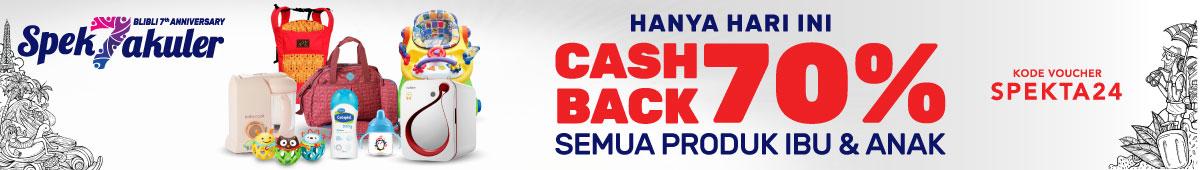 Ibu & Anak Cashback 70%
