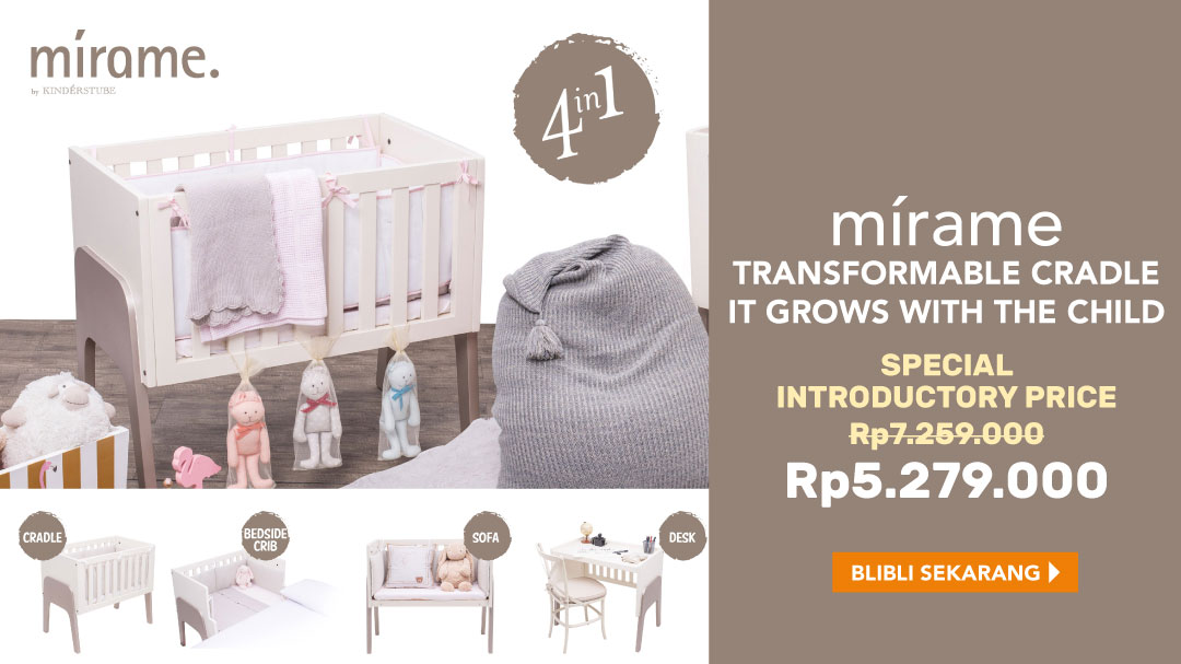 Mirame by Kinderstube 4-in-1 Transformable Cradle