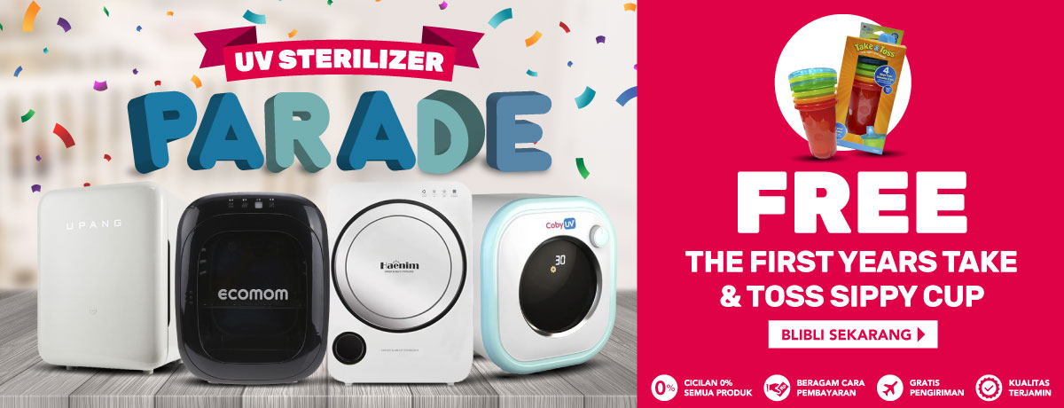 UV STERILIZER PARADE, FREE THE FIRST YEARS TAKE & TOSS SIPPY CUP