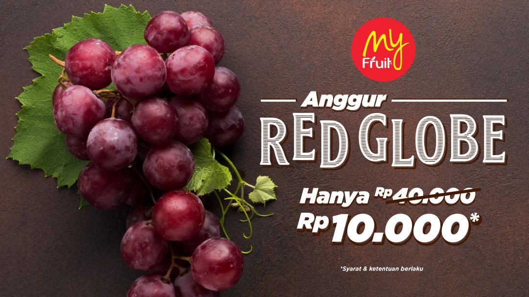 Anggur Red Globe Hanya Rp. 10.000