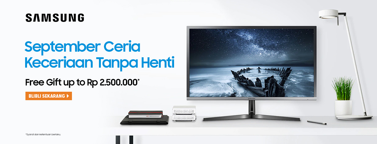 Samsung Monitor - Free Gift Up to 2.500.000