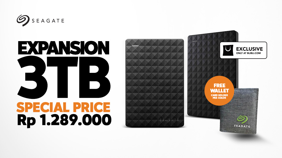 Seagate Expansion 3TB Free Wallet