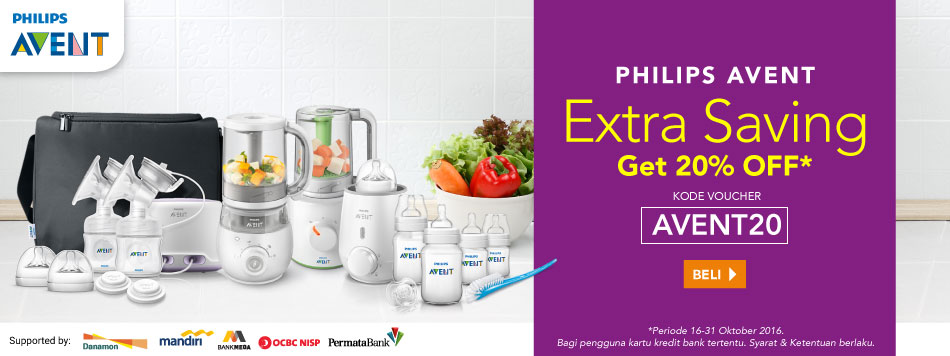 Philips Avent Extra Diskon 20% OFF