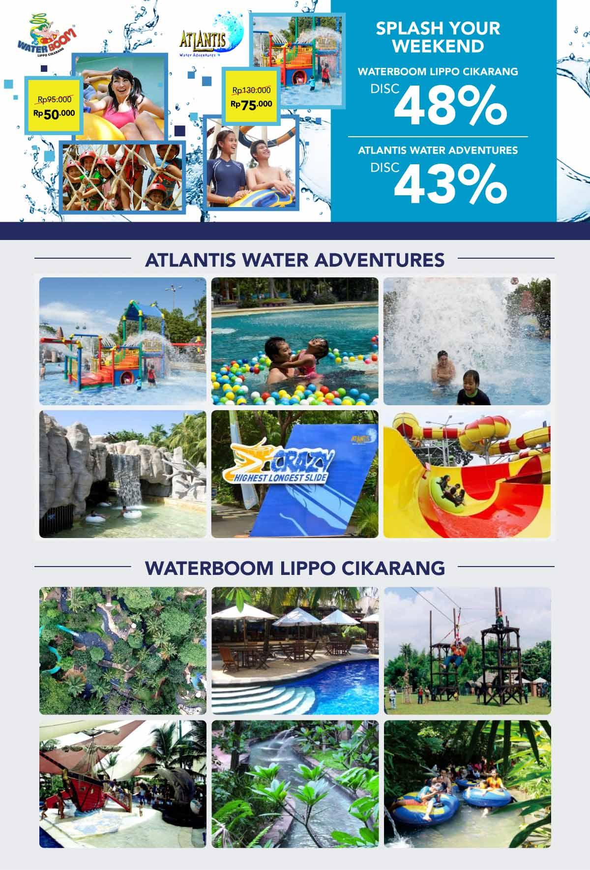 Splash Your Weekend At Atlantis Waterboom Voucher Water Boom Lippo Cikarang Deals