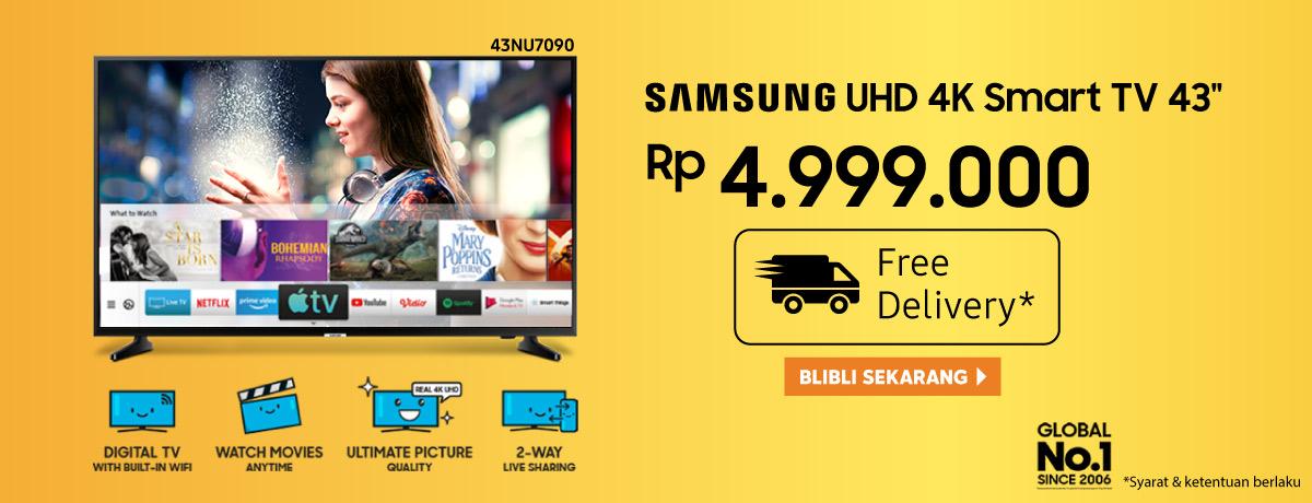 Samsung UHD 4K Smart TV 43